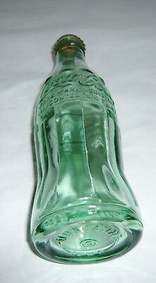 Vintage Coca-Cola Coke Soda Green Embossed Glass Bottle Muscatine