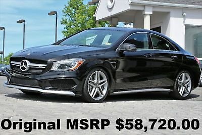 Mercedes-Benz CLA-Class CLA45 AMG 2015 Panorama Roof AMG Performance Seats Blind Spot Night Black Auto AWD 355HP