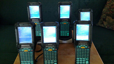 Motorola/Symbol MC9090-G Lot of 6 With Batteries and 2 Cradles