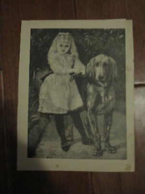 Vintage Bloodhound Dog and Girl Art ~ Sunday Chatterbox