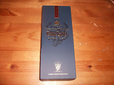 Johnnie Walker Blue Label Scotch Whiskey Empty Bottle With Gift Box 750ml (A)