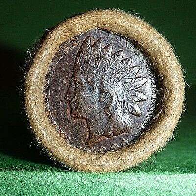 VINTAGE Flying Eagle Indian Head Cent Wheat Penny Roll 1903 & 1907 ENDS
