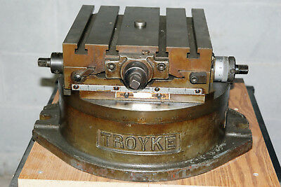 TROYKE DMT-12 Rotary X-Y cross slide milling table , stand, more!