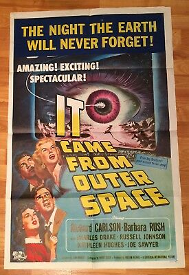 1953 - IT CAME FROM OUTER SPACE - SCI FI - ORIGINAL MOVIE POSTER 27x41 1 Sheet