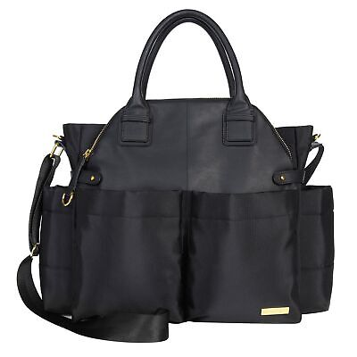 Skip Hop Chelsea Satchel Baby / Infant Nappy Changing Bag With Mat - Black