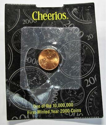 2000 One Cent From Cheerios. One of 10,000,000 First-Minted Year 2000 Coins