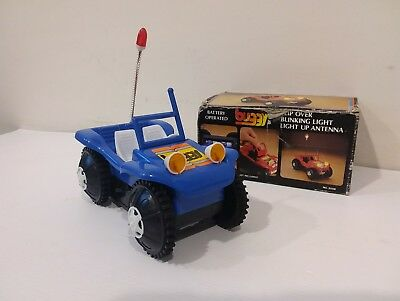 Vintage Battery Operated Buggy Vw Style Dune Sand Race Flip Over Light Up