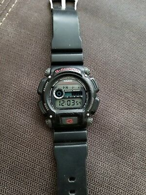 Casio G-Shock LCD Watch DW-9052 3232 Quartz 20 Bar Chronograph Black Resin Band