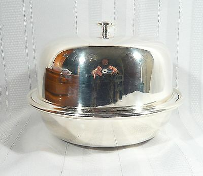 Vintage JOHN ROUND & SONS SILVER Plate  MUFFIN DISH 3 pc MULTI USE SERVING BOWL