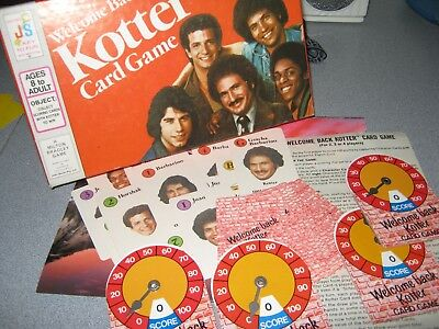 Welcome Back Kotter Card Game Vintage 1976