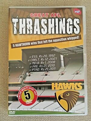 Hawthorn 5 Disc Set Showing 5 Afl Games Where They Whipped Their Opposition