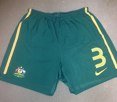 PLAYER ISSUE 2010 Socceroos NIKE Home Shorts #3 Australia WORLD CUP