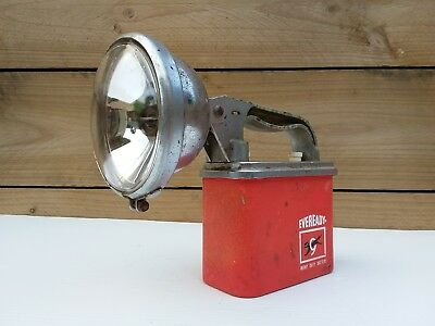 VINTAGE EVEREADY 'BIG JIM' TORCH LIGHT made in AUSTRALIA 1950's