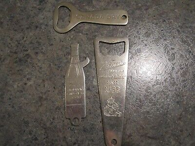 Vintage USA CANADA DRY, SEAGERTOWN & VERNOR'S GINGER ALE  3 bottle opener EUC