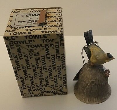 Towle Fine Bone China Bell w/ Tag Oriole Original Box Very Good Condition
