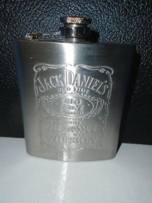 Jack Daniels Tennessee Whiskey Flask Stainless Steel Never Used