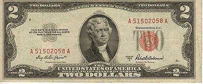 1953-A US Note, Red Seal, High Grade Note (R-194)