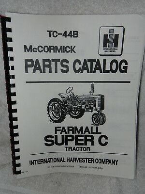 McCormick-Deering Farmall Super C parts catalog TC-44B