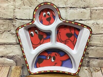 """Clifford The Big Red Dog Plate Sectioned Melamine Dish by Zak Designs 9.5"""""""
