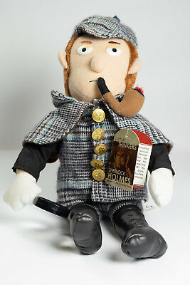 """Sherlock Holmes 13"""" Plush Doll Little Thinkers Detective Pipe Magnify Glass NWT"""