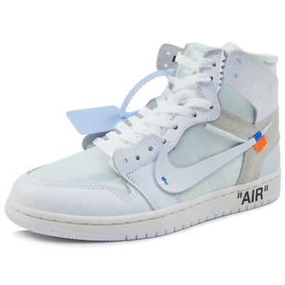 b8d7c980b85afb OFF WHITE AIR JORDAN 1 AQ 8296 - 100 sneaker WHITE US 10.5 ...