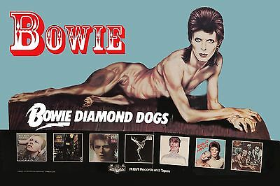 David Bowie * Diamond Dogs * Promotional Poster 1974 13x19