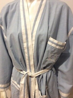 Christian Dior Monsieur Mens Long Robe 100% Cotton One Size New