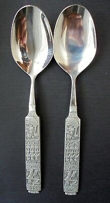 Norway HS Tin Pewter desert/pudding spoons 6 1/4""