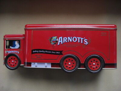 Arnotts Truck Biscuit Tin Delivery Truck Van Car Red A-141