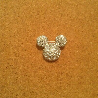Micky Mouse ears brooch with crystals