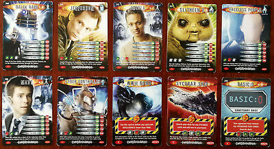 Doctor Who Battles In Time 10 x Trading Cards (240 - 249)