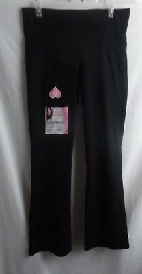 Great Expectations Black Maternity Yoga Pants Cotton/ Poly/ Spandex Large 12-14
