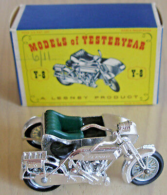 MODELS OF YESTERYEAR - LESNEY PRODUCT Y-8 1914 SUNBEAM MOTOR CYCLE with box