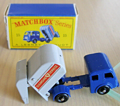 MATCHBOX SERIES No. 15 REFUSE TRUCK with Original Box in Good Condition