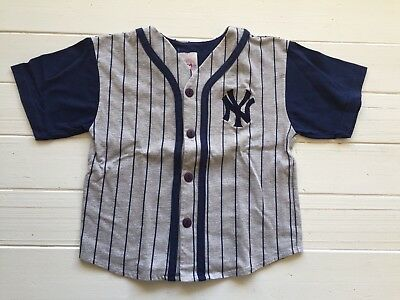 Kids Baseball New York NY Yankees Jersey Major League Genuine Merchandise Size 7