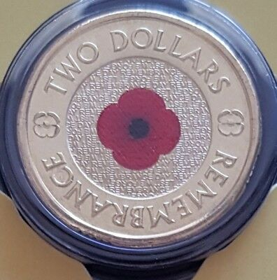 2018 $2 30th Anniversary RED POPPY REMEMBRANCE dated 2018