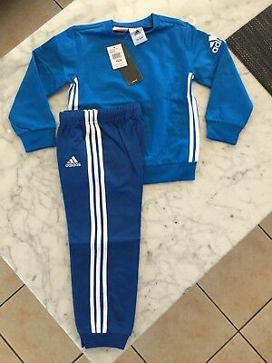 New Baby Boys Adidas Tracksuit Size 18-24 Months Rrp $60 100% Authentic