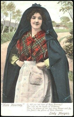 "Old Postcard - ""kate Kearney "" Posted 1915 Stamped Laurence Pub Dublin No 8249"