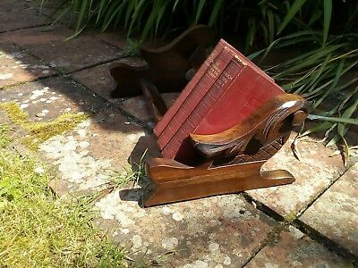 Antique carved wooden book trough retro vintage steampunk mythical bird?