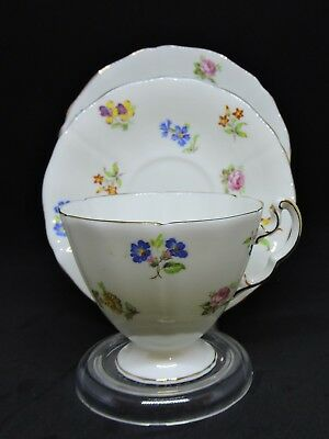 Vintage Adderley Cup, Saucer and Plate, Spring Flowers- Pattern No H879