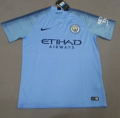 Man city home replica shirt  18/19 season brand new with tags.