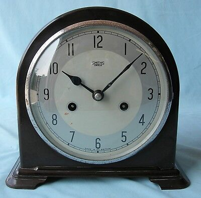 Smiths Eight Day Striking Bakelite Cased Mantel Clock