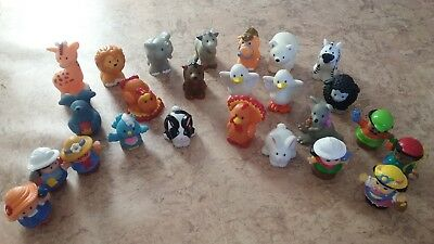 25 Fisher Price Little People & Animals Figures