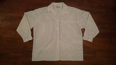 mens vintage long sleeve striped shirt size XL Mischief