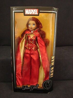 """Marvel Figure Iron Man MADAME ALEXANDER COLLECTION Fan Girl Doll NEW w/stand 14"""""""