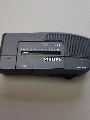 Philips Executive  -  491 Professional Pocket Memo - Voice Recorder Works 100%
