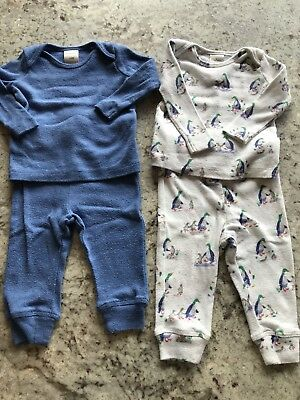 Baby Boden Pointelle Top and Bottom Set X2 Sz 6-9mths