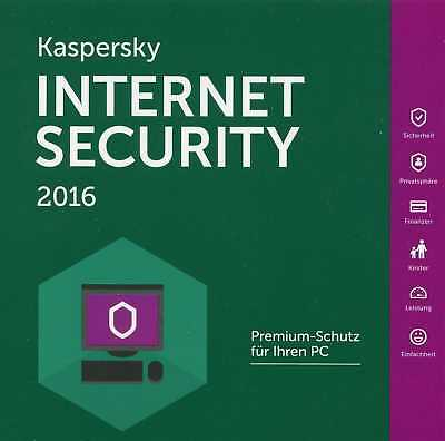Kaspersky Internet Security  2 PC 1 Jahr  WIN (für 2016 - 2018) / KEY