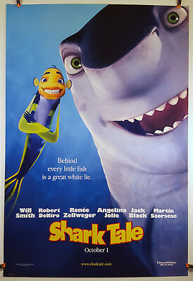 Shark Tale (Advance) 2004 Original Movie Poster 27x40 Rolled, Double-Sided