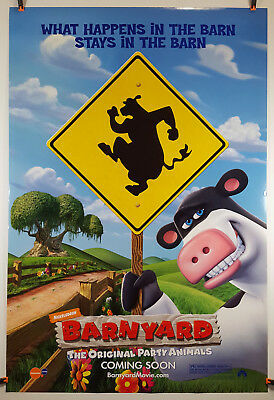 Barnyard (Advance Style B) 2006 Original Movie Poster 27x40 Rolled, Double-Sided